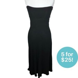 5/$25 - Long Strapless Dress Black Small